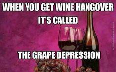 Don't go into the Grape Depression! #StJamesWinery #wine #Winery #Funny