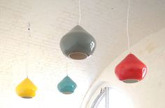 Pendant Lamps by Hand & Eye Studio Pendant Lamps, Ceramic Pottery, Lightning, Searching, Designers, Ceiling Lights, Bright, Turquoise, Ceramics