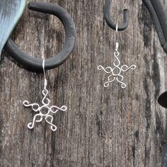 Sterling Silver Earrings Starfish Earring Dangle by MadebyNat