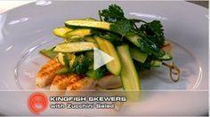 Kingfish Skewers with Zucchini Salad