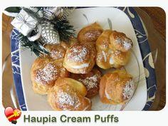Cream Puffs with Haupia Filling - ILoveHawaiianFoodRecipes