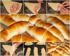 Ham wrapped in bread. Croissants, Venezuelan Food, Venezuelan Recipes, Healthy Recepies, Eat This, Latin Food, Muffins, Love Food, Cupcakes