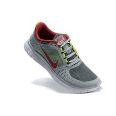 pretty nice 0716c c1a57 Billig luksuris 2012 Menn Nike Free Run+ 3 Grå Rød Running Shoes Nike,