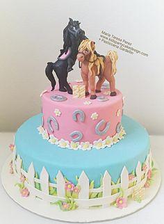 tiny horses - Cake by Maria  Teresa Perez