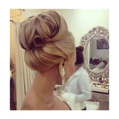 10 Glamorous Wedding Updos that You Will Love ❤ liked on Polyvore featuring home and home decor