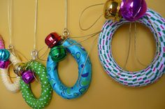 clare's craftroom ~ little wreaths made from curtain rings.  http://clarescraftroom.blogspot.com