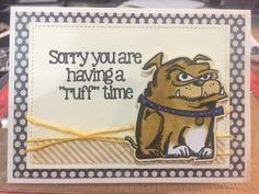 Tim Holtz Crazy Dogs Get Well Card