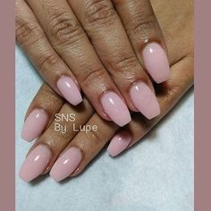 Nude color SNS nails (dipping powders) !