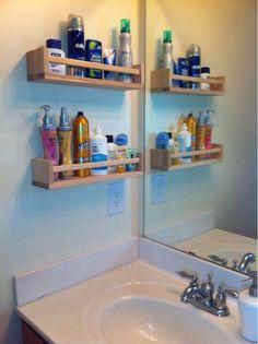 Spice racks = Bathroom organization