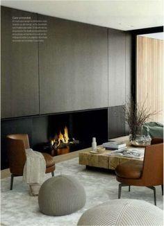 Luxury furniture design fireplaces 27 new ideas Modern Fireplace, Fireplace Design, Home Living, Living Spaces, Living Room, Luxury Furniture, Furniture Design, Interior Architecture, Interior Design