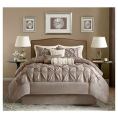 Piedmont 7 Piece Comforter Set - Taupe (King)