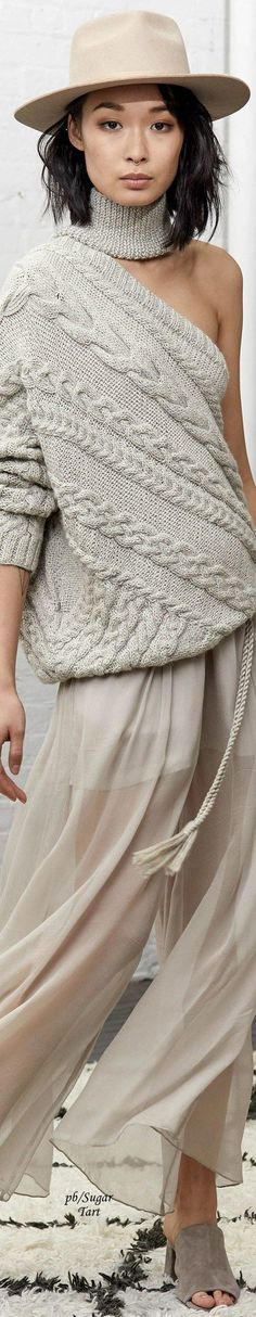 @roressclothes clothing ideas #women fashion gray knit one shoulder sweater Laura Siegel - Fall 2017: