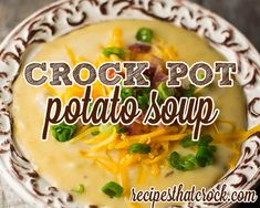 This savory crock pot potato soup recipe is the perfect loaded potato soup. We tested a lot of potato soup recipes and THIS one won by a landslide.