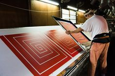 Screen printing furoshiki by Link Collective