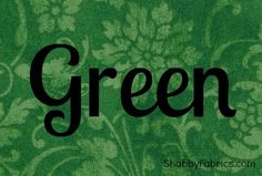 Green...The color of hope, the color that lights your nights, heart, and soul with peace. Green, the color that keeps the heart calm, and the knowing that winter turns into spring.