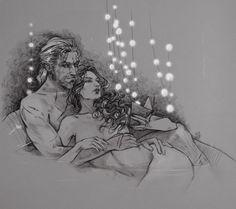 Geralt and Yen by Alina Veresova
