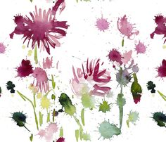 C'EST LA VIV™ Garden Lark Collection_POPPIES  fabric by cestlaviv on Spoonflower - custom fabric