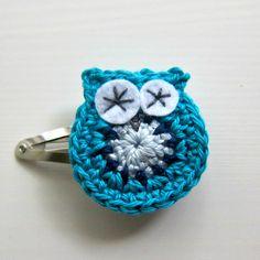 Crochet Owl Hairclip - gorgeous! - by lolliandbean on madeit