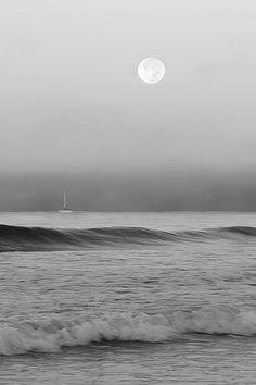 The stillness of the ocean