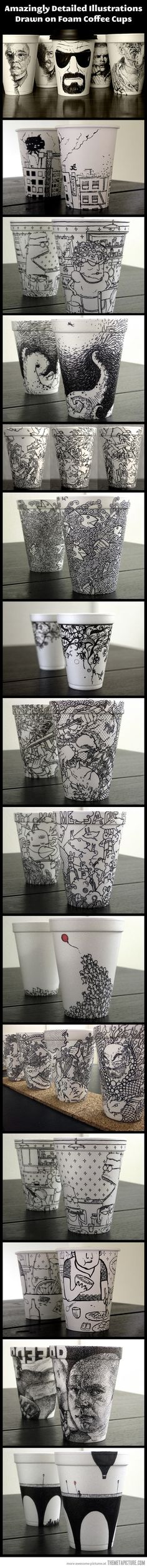 Awesome foam coffee cup #packaging #designs PD