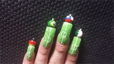 Nail art designs for World Cup 2014 » Nail Designs #Brazil #prom world cup nail art