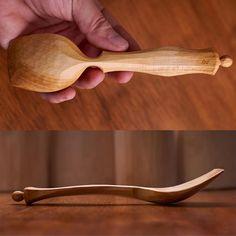Maple eating spoon by Derek Brabender