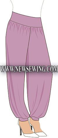 Harem Pants -  free pdf Pattern (click on the pattern Image)