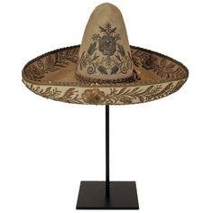 Fancy 19th Century Mexican Sombrero | From a unique collection of antique and modern more antique and vintage finds at http://www.1stdibs.com/furniture/more-furniture-collectibles/more-antique-vintage-finds/