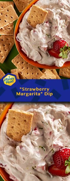 Try our fiesta-ready fruit dip, best enjoyed with whole grain HONEY MAID Honey Grahams. Inspired by the tropical flavor of a strawberry margarita, this luscious snack is always a great choice.