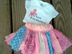 PSALM 23/ The Lord is my Shepherd - Skirt and Onesie Set by LoveMakingsAndDesign on Etsy