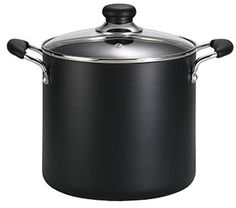 T-fal Specialty Total Nonstick Dishwasher Safe Oven Safe Stockpot Cookware, Black: T-fal Specialty Nonstick Stockpot Dishwasher Safe Stock Pot Cookware, Black. Steel Stock, Cooking Supplies, Cooking Tools, Pot Sets, Black Kitchens, The Ordinary, Kitchen Dining, Kitchen Ware, Dishwasher