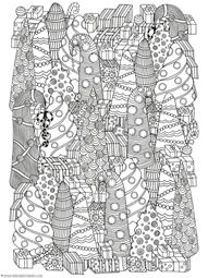 christmas doodle coloring pages