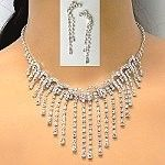 Wholesale pageant rhinestone necklace set