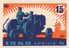 hungarian matchbox label Illustrations, Graphic Illustration, Retro Design, Vintage Designs, Graphic Design, Matchbox Art, Vintage Tractors, Vintage Labels, Vintage Packaging