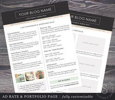 easy to use media kit inspiration for bloggers or entrepreneurs or use it as a resume - Easy To Use Resume Templates