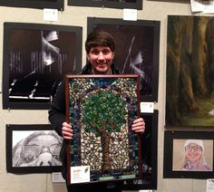 Billy Aikins '15 was recognized by the Alliance for Young Artists & Writers through the Scholastic Art & Writing Awards of the Pittsburgh Arts Program.  Billy's artwork, which included two mosaics, won Gold and Silver Keys in the regional Scholastic Art Awards. Billy also placed in the regional Scholastic Writing Awards. He won a Silver Key for his dramatic script entry and an Honorable Mention in the short story category.