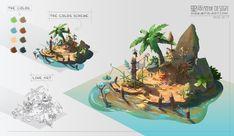 ArtStation - 第1期场景强化班学员作业 - 废旧遗迹入口设计, Star Academy Environment Painting, Environment Concept Art, Environment Design, Game Environment, Robinson Crusoe, Landscape Illustration, Illustration Art, 3d Drawing Tutorial, Drawing Tips