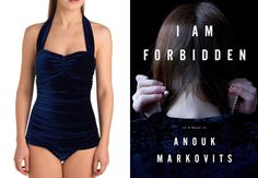"Bookish bathing suits! An ""I Am Forbidden"" (by Anouk Markovits) inspired one-piece!"