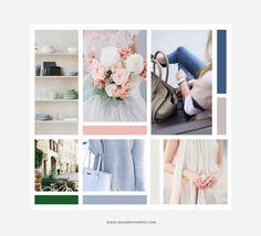 Linen Branding Inspiration Board by Seaside Creative