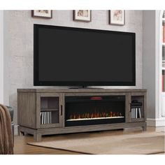 Classic Flame Berkeley Media Mantel in Spanish Gray