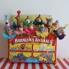 Circus Animals Cupcake Toppers/Cake Decorations by PartyPopPop