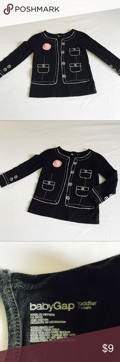 Baby Gap Black Long Sleeve Shirt 4T Baby Gap Black Long Sleeve Shirt 4T Excellent condition no flaws GAP Shirts & Tops Tees - Long Sleeve