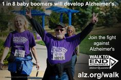 Please share this week's Friday Fact: 1 in 8 Baby Boomers will develop Alzheimer's.
