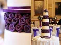 Gorgeous purple wedding cake.  I love how simpe, yet elegant this cake is.
