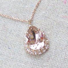 Swarovski Crystal Blush Pink Faux Diamond Halo by HeatherlyDesigns