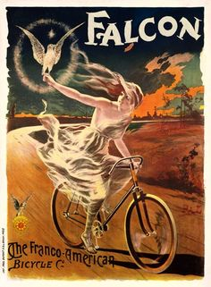 Falcon Bicycle Poster 11x17 by BicyclePosters on Etsy, $29.00