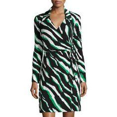 Laundry by Shelli Segal Women's Long-Sleeve Printed Wrap Dress, Jellybean/Multi