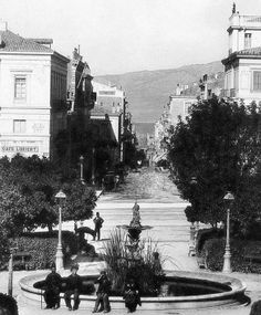 Syntagma Square and Ermou Street,Athens Greece. Attica Athens, Athens Acropolis, Athens Greece, Greece Pictures, Old Pictures, Old Photos, Athens History, Cyprus Island, Athens Hotel