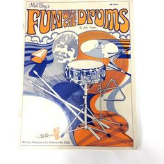 Mel Bays Fun with the Drums by John Brophy 1973 How To Original