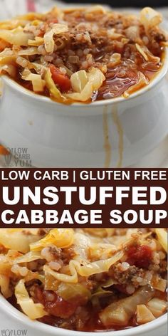 Are you a cabbage roll fan but hate all the work involved to make them? If so, you need to try this easy unstuffed cabbage soup recipe. // cabbage recipes soup // recipes cabbage // healthy cabbage re Ketogenic Recipes, Keto Recipes, Cooking Recipes, Healthy Recipes, All Recipes, Easy Low Carb Recipes, Healthy Apple Desserts, Baked Apple Dessert, Apple Dessert Recipes
